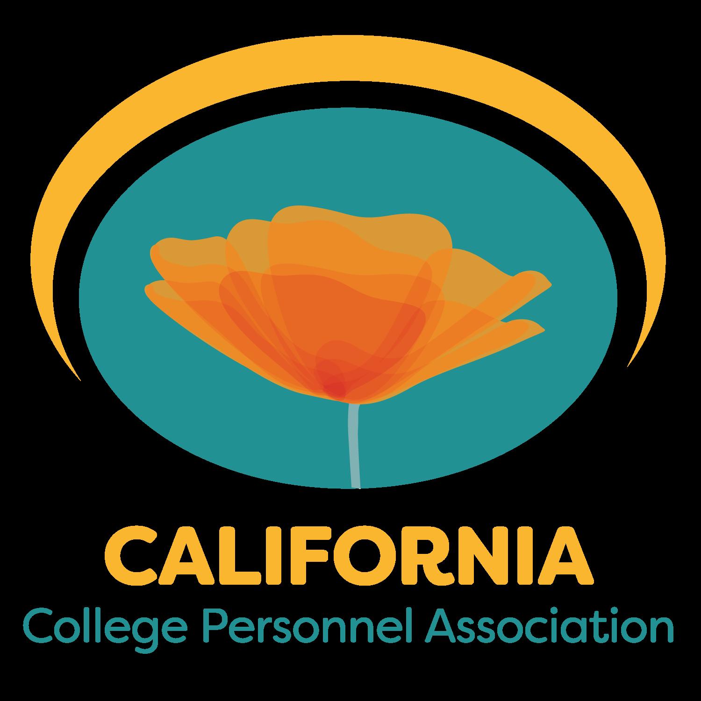 California College Personnel Association logo featuring an orange poppy flower