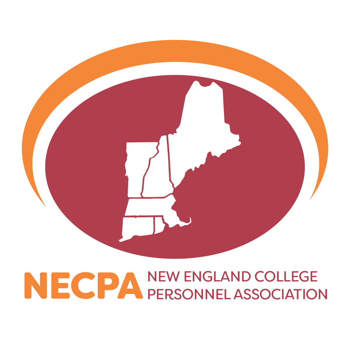 NECPA logo featuring the outlines of New England states