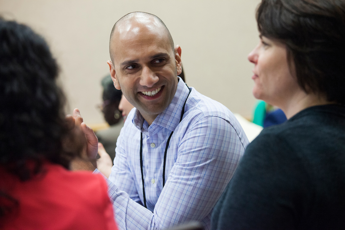 individuals interacting at ACPA20 in the Marketplace