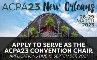 Apply to serve as the ACPA23 Convention Chair!
