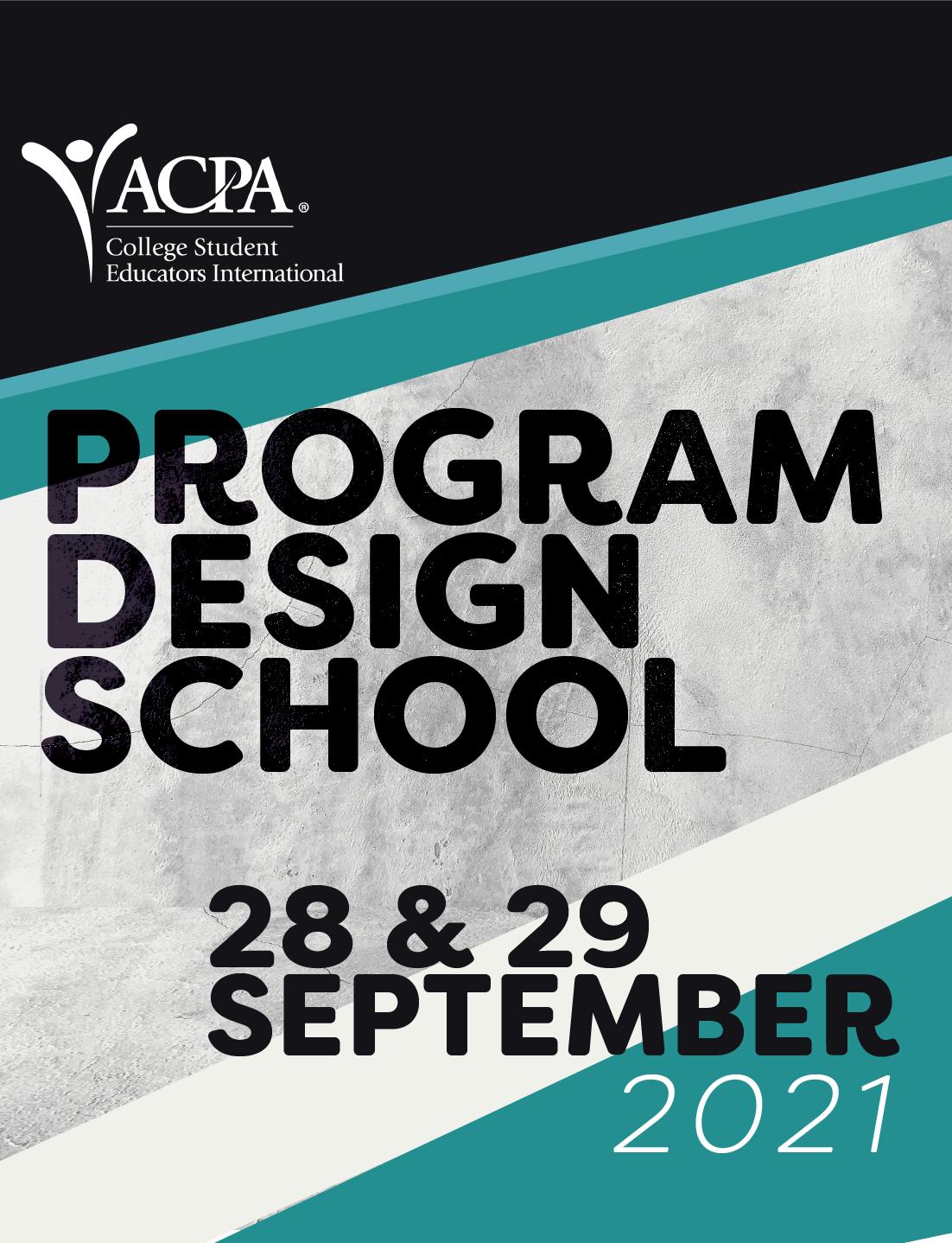 Program Design School. 28 & 29 September 2021