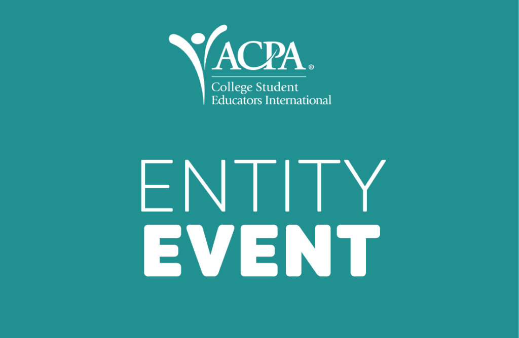 """ACPA logo and text that reads """"entity event"""""""