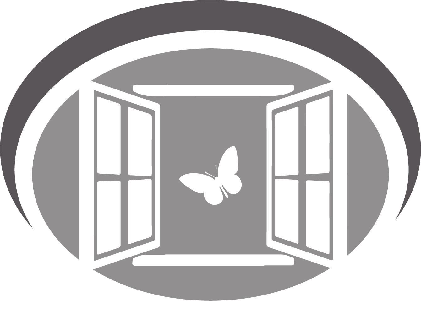 cgpsa logo of a window with a butterfly exiting